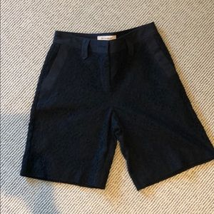 See by Chloe black lace shorts